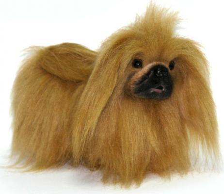 Мягкая игрушка собака Hansa Пекинес искусственный мех коричневый 27 см 4137 hansa 4137 пекинес 27 см