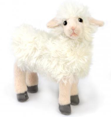 Мягкая игрушка овечка Hansa 4050 искусственный мех белый 17 см