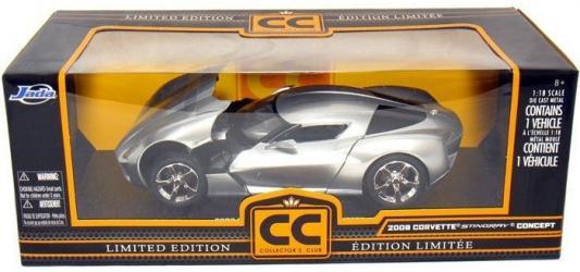 Автомобиль Jada Toys Corvette Stingray Concept - Glossy 1:18 серебристый 96326S