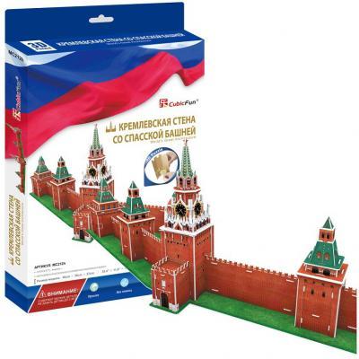 Пазл 3D CubicFun Кремлевская стена со Спасской башней 106 элементов MC212H