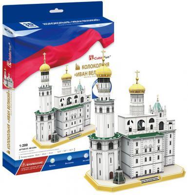Купить Пазл 3D CubicFun Колокольня Ивана Великого 62 элемента 6944588202200, 3d пазлы