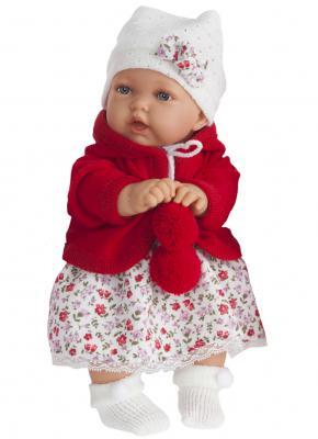Кукла Munecas Antonio Juan Азалия в красном 27 см со звуком 1220R кукла лана брюнетка juan antonio 27 см 1112br