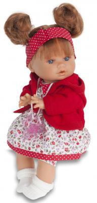 Кукла Munecas Antonio Juan Кристи в красном 30 см плачущая 1337R