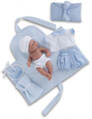Кукла-младенец Munecas Antonio Juan Карлос с пеленальным комплектом 26 см мягкая 4064B