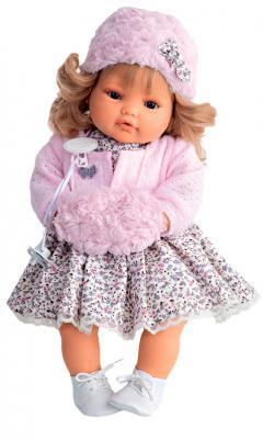 Кукла Munecas Antonio Juan Белла 42 см плачущая 1669P кукла antonio juan белла pink 1669p