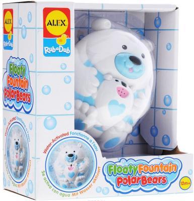 Пластмассовая игрушка для ванны ALEX Полярный медвежонок 11 см 841B пластмассовая игрушка для ванны alex чашки уточки