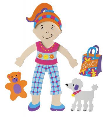 Набор стикеров для ванны Alex Одень куклу 806 alex игрушки для ванны 3 цветные лодочки