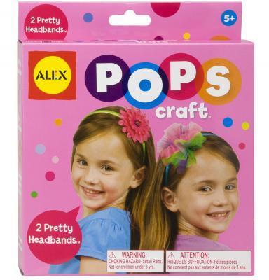 Набор для творчества ALEX POPS CRAFT Укрась свой обруч от 5 лет 1198 alex alex набор для творчества плетение браслетов фенечек неоновое сияние