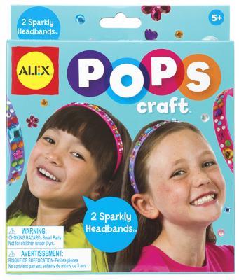 Набор для творчества Alex POPS CRAFT, Два блестящих ободка со стразами от 5 лет 1293 набор для вязания alex шапки и шарфа от 7 лет 87pn