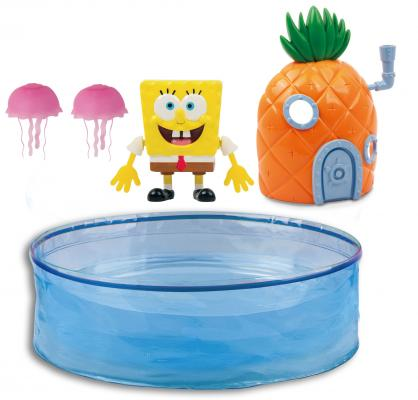 Интерактивная игрушка Robofish Спанч Боб с аквариумом и домиком от 3 лет 5302 интерактивная игрушка redwood акула акробат тайгер с аквариумом от 3 лет фиолетовый 159025