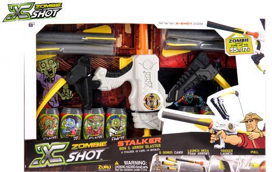 Лук X-shot Зомби (6 банок, 4 стрелоракеты) белый 01165 shot shot standart brain user