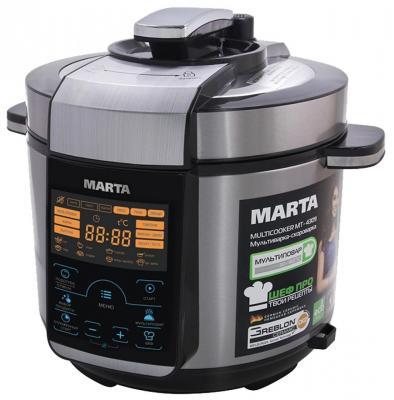 Мультиварка Marta MT-4309 белый серебристый 900 Вт 5 л масляный радиатор marta mt 2422