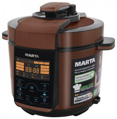 Мультиварка Marta MT-4309 черный медный 900 Вт 5 л набор чашек marta mt 3726