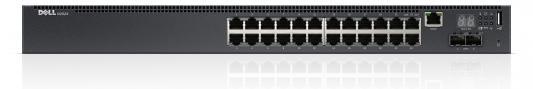 Коммутатор Dell N2024 24 порта управляемый 10/100/1000Mbps 2хSFP 210-ABNV/006