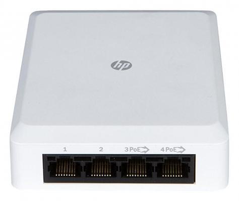 Коммутатор HP NJ5000 5G PoE+  Walljack IntelliJack управляемый 5 портов 10/100/1000Mbps JH237A