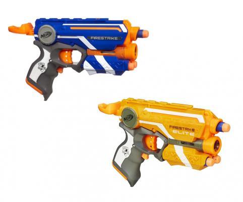 Купить Бластер Hasbro Nerf Элит Файрстрайк для мальчика 5010994661335, Размер игрушки: длина - 23 см., Игрушечное оружие