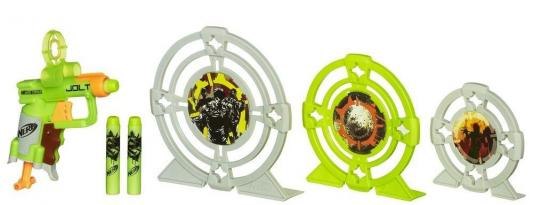 Набор Hasbro Nerf Зомби Страйк - Бластер и три мишени для мальчика 5010994776039 игрушечное оружие nerf hasbro бластер зомби страйк сайдстрайк
