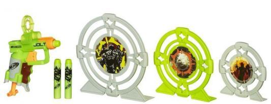 Набор Hasbro Nerf Зомби Страйк - Бластер и три мишени для мальчика 5010994776039 игрушка hasbro nerf зомби страйк мишени джолт