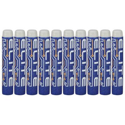 Набор стрел для бластеров Nerf Элит 10 шт синий белый для мальчика 5010994945282 nerf аксессуар для бластеров лазерный прицел