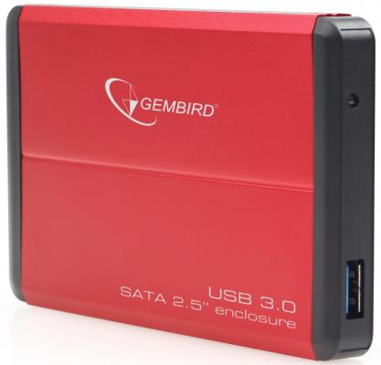 Внешний контейнер для HDD 2.5 SATA Gembird EE2-U3S-2-R USB3.0 красный 1pcs serial ata sata 4 pin ide to 2 of 15 hdd power adapter cable hot worldwide