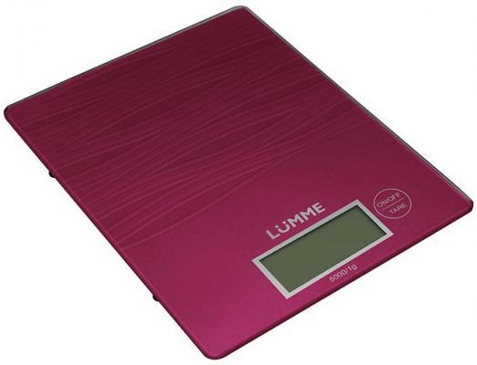 Весы кухонные Lumme LU-1318 красный