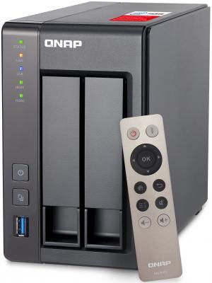Сетевое хранилище QNAP TS-251+-8G Intel Celeron 2xHDD рэковое сетевое хранилище rack nas qnap ts 531x 8g ts 531x 8g