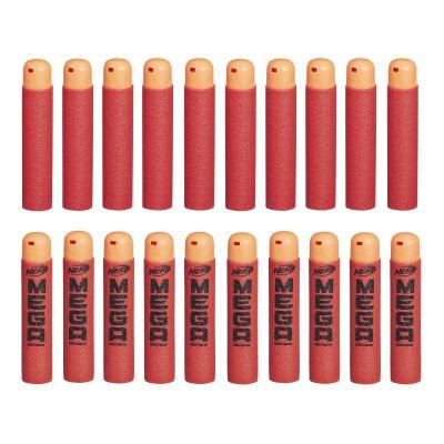 Набор стрел для бластеров Nerf МЕГА 20 шт красный оранжевый для мальчика B0085