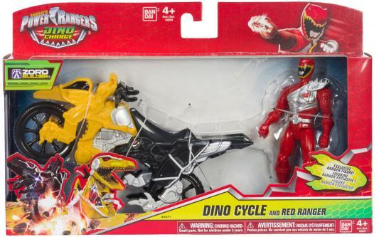 Игровой набор BANDAI Могучие рейнджеры мотоцикл +12 см фигурка 2 предмета в ассортименте игровой набор любимый персонаж 5 см в ассортименте