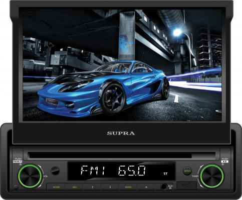Автомагнитола Supra SWM-772 7 USB MP3 CD DVD FM RDS SD MMC 1DIN 4x50 пульт ДУ черный