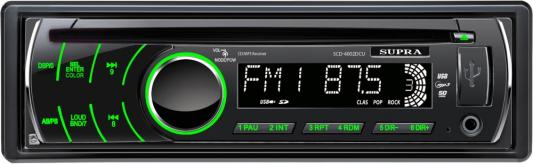 Автомагнитола Supra SCD-4002DCU USB MP3 CD SD MMC 1DIN 4x70Вт черный