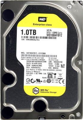 "Жесткий диск 3.5"" 1Tb 7200rpm 128Mb cache Western Digital RE SATAIII WD1004FBYZ"