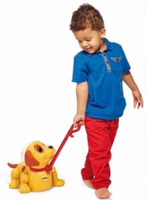 Интерактивная игрушка Tomy Погуляй со мной - Щенок от 1 года желтый ТО72376