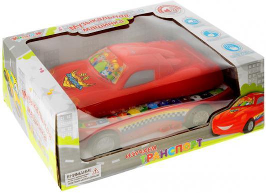 Интерактивная игрушка Zhorya Машинка - Изучаем транспорт от 3 лет красный