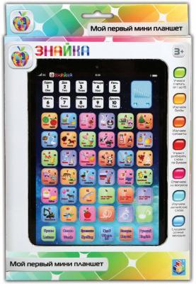 Обучающий  мини планшет 1 Toy двуязычный интерактивный   Знайка