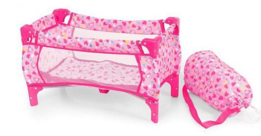 Кроватка-манеж для кукол 1Toy с сумкой Т54597