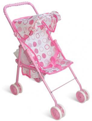 Коляска для кукол 1Toy Т52259 1toy транспорт для кукол коляска цвет синий