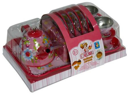 Чайный набор 1toy Я сама игрушечная посуда 1toy игровой чайный сервиз я сама 1toy