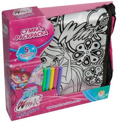 1toy Winx сумка - раскраска, 31х9х30 см, 5 фломастеров Т56990