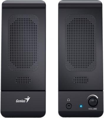 Колонки Genius SP-U120 2х1.5 Вт черный компьютерные колонки genius sp hf500a