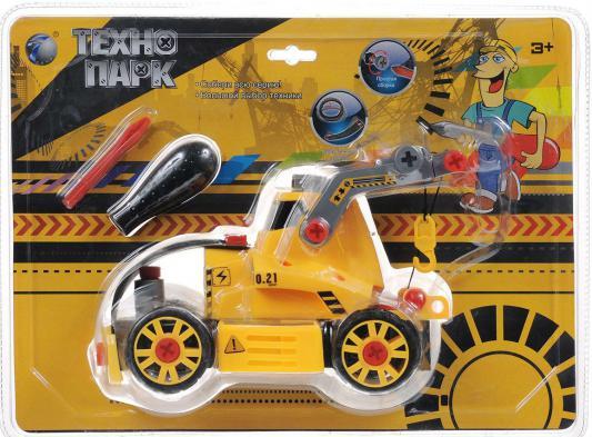 Конструктор Tongde Технопарк. Трактор на гусеницах с подъемником 4894001721806 tongde технопарк в блистере трактор в72180