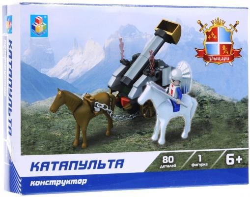 Конструктор 1Toy Рыцари Катапульта 80 элементов