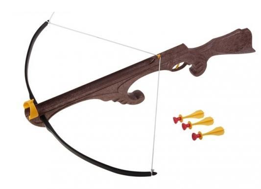 Арбалет Bauer Викинг с тремя стрелами на присосках коричневый abtoys со стрелами на присосках