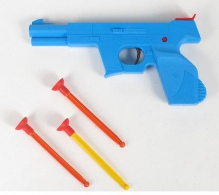 Пистолет Bauer Кроха Спецназ с тремя стрелами на присосках голубой для мальчика 4605705000872