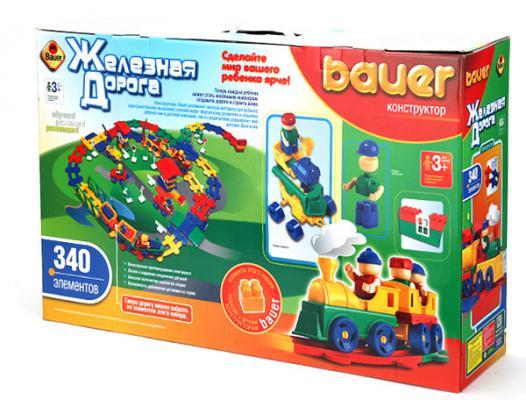 Конструктор Bauer Железная дорога 340 элементов кр257