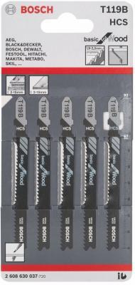 Лобзиковая пилка Bosch T119 B HCS 5 шт 2608630037 цена