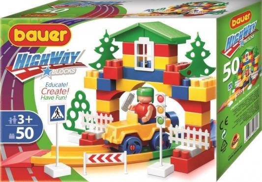 Конструктор Bauer Автодорога 50 элементов конструктор bauer автодорога 248 136 элементов