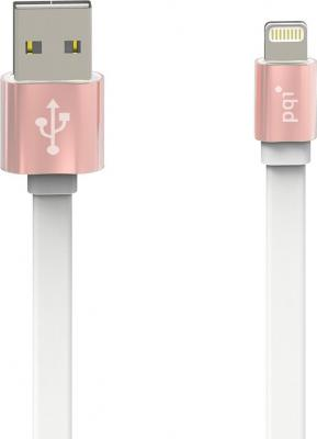 Кабель PQI i-Cable Metallic USB-Lightning розовый 1м 6ZC190701R004A