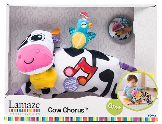 Мягкая игрушка корова Tomy Lamaze Музыкальная коровка LC27560 текстиль пластик разноцветный 21 см 83094 игрушка tomy lamaze собачка пиппи то27625