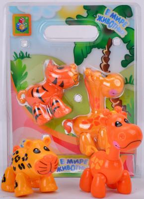 Игровой набор 1Toy В мире животных Жираф и леопард 2 предмета Т57438-2