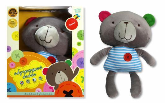 """Интерактивная игрушка 1Toy Плюшевая обучающая """"bobbie & friends"""" сенсорный Бобби, с озвучкой частей тела от 6 месяцев разноцветный"""